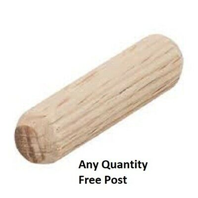 HARDWOOD DOWELS 8mm WOODEN CHAMFERED FLUTED PIN WOOD BEECHWOOD SUITS IKEA. • 7.90£