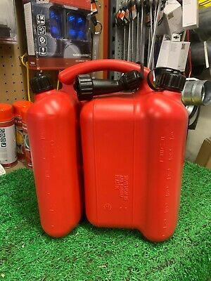 £22 • Buy  Petrol Jerry Can Fuel Can 6 Litre / Oil Can 3 Litre Dual Can Chainsaw Strimmer