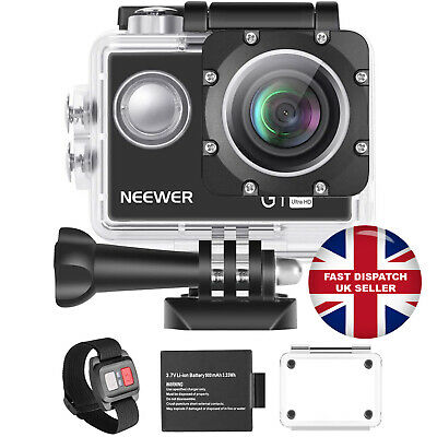 4K Action Camera 12MP Underwater Wide Angle Sports Neewer G1 Ultra HD Xmas Gift • 25.99£