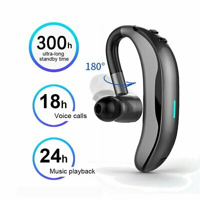 AU11.98 • Buy Wireless Bluetooth Headphones Handsfree Earpiece Noise Reduce Earbud Mic Headset
