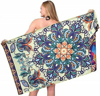 AU33.48 • Buy Sand Free Beach Towel Super Absorbent Lightweight Travel Blanket-Quick Fast Dry