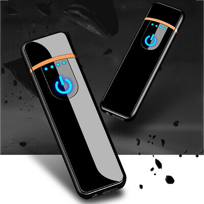 AM_ FM_ DV-USB Rechargeable Windproof Touch-sensing Cigarette' Lighter Collectib • 3.47£