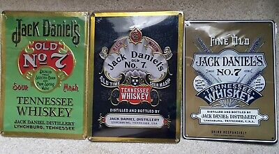Official JACK DANIELS Legacy One Two & 3 Tin Signs Uk Released Collectors Items • 39.99£