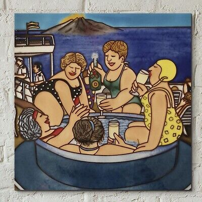 £22.95 • Buy Cruising Ceramic Picture Tile By Beryl Cook 8  X 8  Wall Art Kitchen Gift 05868