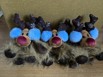 3 Plush Tesco Chilly And Friends Reindeer 2007 Christmas Toy Bundle • 15.50£