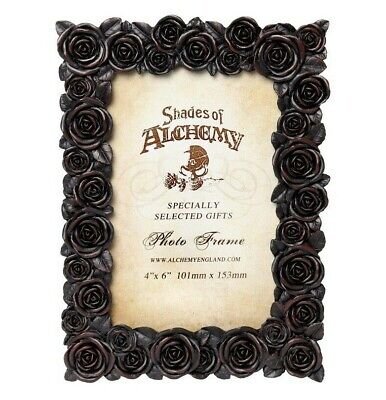 Alchemy Gothic NEW Romantic Black Roses Picture Frame 4X6  Photo Gift Decor SA18 • 13.79£