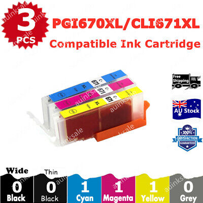 AU10.40 • Buy 3x Compatible Ink CLI 671 Colour  For Canon PIXMA TS5060 MG5760 MG5765