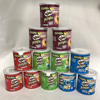 Pringles Pop & Go Travel Box 12 X Multi Flavour Pots | UK Free And Fast Shipping • 12.49£