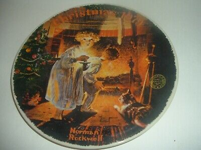 $ CDN15.09 • Buy Edwin Knowles Norman Rockwell Somebody's Up There Christmas Plate 1979