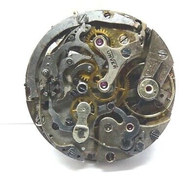 $ CDN367.02 • Buy Vintage Unver Chronograph Defekt  WATCH MOVEMENT  WINDING Not Workking (Z81)