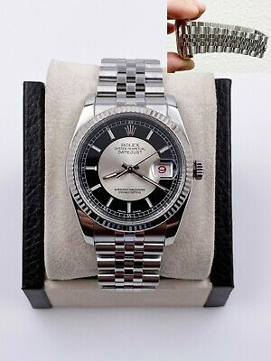 $ CDN9339.15 • Buy Rolex Datejust 116234 Black Tuxedo Dial Stainless Steel MINT Condition