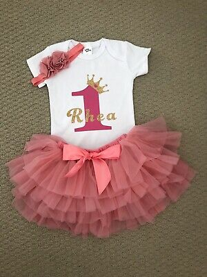 AU45 • Buy Baby Girl 1st Birthday Dress Cake Smash Dress Set Outfit Set Tutu Romper Set