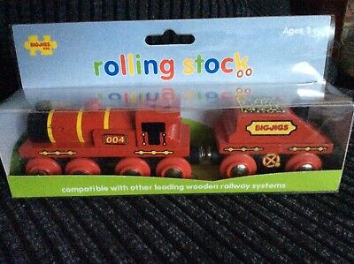 £9.95 • Buy Bigjigs Wooden Big Red Engine With Coal Tender - Boxed, Thomas, Brio Compatible