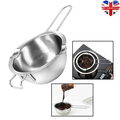 Stainless Steel Wax Melting Pot Double Boiler For DIY Wedding Scented Candle UK • 7.29£