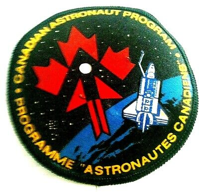Nasa-iss-canadian Space Shuttle Astronaut Mission--badge-for Bomber Jacket • 6£