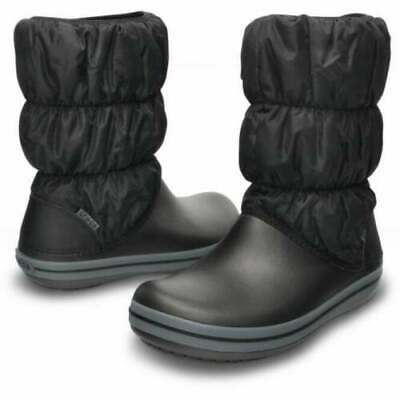 CROCS Womens Winter Puff Boot Black/Charcoal, Puffed Boots UK 3 • 19.99£
