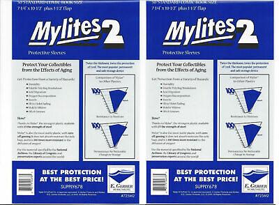 $41.99 • Buy 100 Factory Sealed Gerber Mylites2 STANDARD (= SILVER Size Mylar) New 725M2