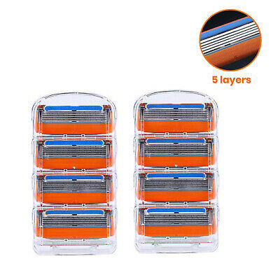 AU5.95 • Buy 5 Layers Orange Blades Razor Shaving Shaver Trimmer Refills Cartridges For Men