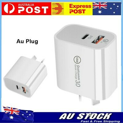 AU12.79 • Buy AU Plug PD 18W USB-C Type C Fast Wall Charger Adapter For IPhone 12 11 Android