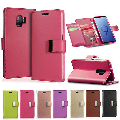 $ CDN6.88 • Buy Case For Samsung Galaxy S8 S9 Plus J3 J5 A5 2017 Cover Flip Leather Wallet Stand