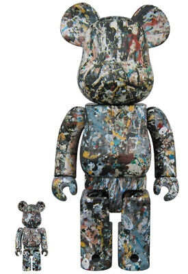 $620.75 • Buy Bearbrick Be Rbrick Jackson Pollock Studio Ver.2.0 100 400