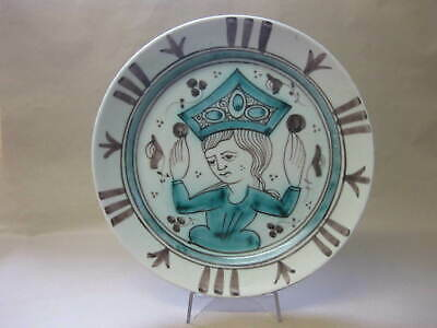 Vintage Spanish Art Pottery Wall Plate / Plaque ~ Ceramicas Sanchis - Valencia • 17.99£