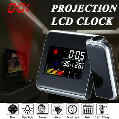 AU14.59 • Buy Smart Digital LED Projection Alarm Clock Temperature Time LCD Display Projector
