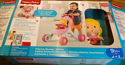 £35 • Buy Fisher-Price Princess Stroll-Along Musical Walker And Doll Gift Set