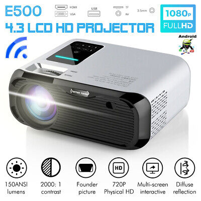 AU180.40 • Buy 7000 Lumen HD 1080P Bluetooth Projector Wifi Android Home Cinema Theater HDMI AV