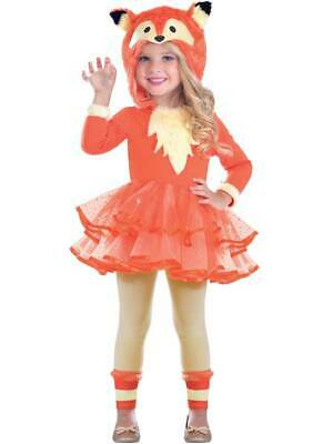 Child Fantastic Fox Hooded Tutu Costume Girls Animal Book Day Fancy Dress Kids • 12.99£