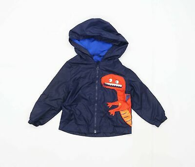 Bluezoo Boys Graphic Blue Dinosaur Coat Age 2-3 Years • 9£