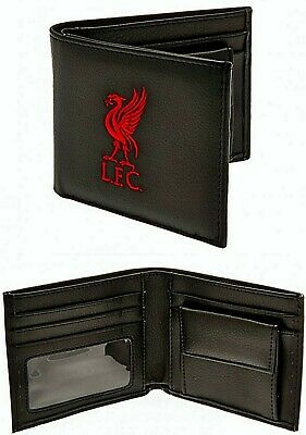 Liverpool Fc Embroidered Crest Leather Money Wallet Coin Cash Card Purse Lfc • 11.85£