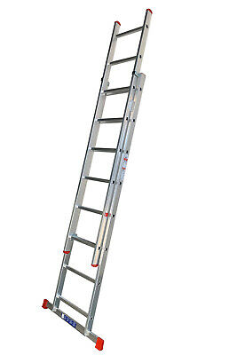 DIY Aluminium Extension Ladders - Double Domestic Ladder For Home Use DIY  • 99.99£