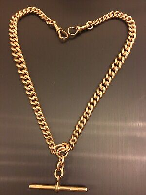 £1650 • Buy 9ct Rose Gold Albert Chain 67g 16.5 Inches. Hallmarked On Every Link.