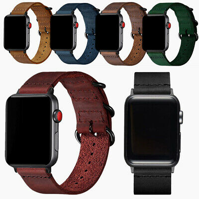 $ CDN17.20 • Buy Leather Band For Apple Watch 6 5 4 3 Strap Replacement For Iwatch 38 40 42 44 Mm