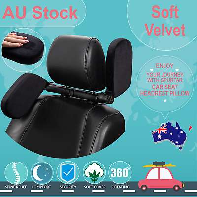 AU40.99 • Buy Adjustable Car Seat Headrest Pillow Head Neck Support For Kids And Adult Black