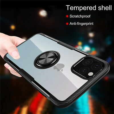 AU7.03 • Buy Magnetic With 360 RIng Holder Clear Hard Case Cover For IPhone XS XR 8 7 6 11 12