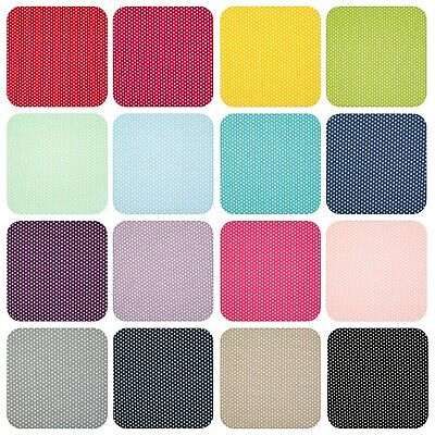 $4 • Buy 100% Cotton Fabric SMALL 4MM WHITE STAR ON VIBRANT COLOUR Material 145cm Wide