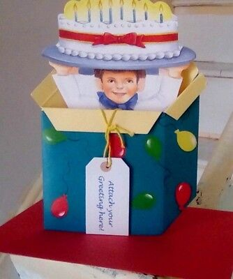 Chef Cake In BOX GREETINGS 3D POP-UP Stand Up CARD  Birthday. Anniversary Party • 2.69£