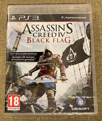 Assassins Creed Black Flag Playstation 3 PS3 Brand New & Factory Sealed • 14.95£