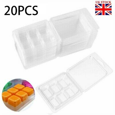20x Plastic Wax Melt Clamshells Molds Wax Melt Containers For Wickless Candle • 7.28£