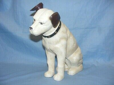 HMV Nipper Dog Money Box Cast Iron Door Stop Figurine Ornament Advertising Large • 44.95£