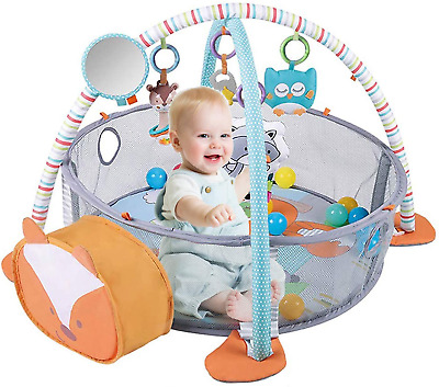 £70.68 • Buy HIUME Baby Play Mat 3 In 1 Baby Gym With 4 Hanging Toys & 30 Balls - Infant For
