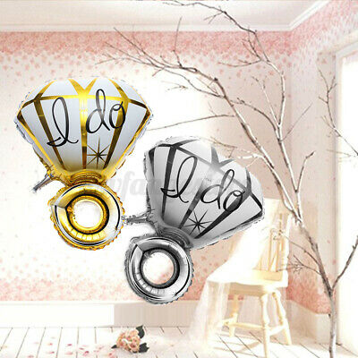 AU8.99 • Buy I DO Fashion Diamond Ring Foil Helium Balloon Wedding Hen Party Decor Bridal AU