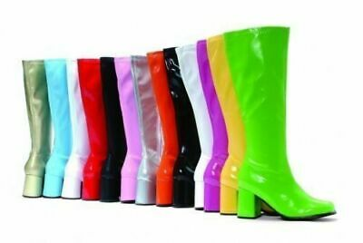 New Women's Fancy Dress Sexy GoGo Knee High Boots Cool 60's 70s Party Sizes 3-12 • 19.99£