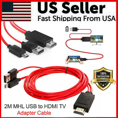 $ CDN10.27 • Buy  Micro USB MHL To HDMI 1080P Cable TV Out Lead For Android Samsung Phones Male