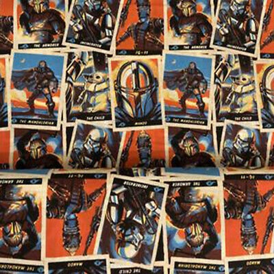 AU6 • Buy LICENSED FABRIC COTTON STAR WARS Mandalorian Collection - Trading Cards FQ