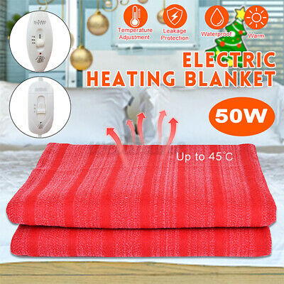 £17.35 • Buy UK Electric Heated Throw Over Under Blanket Single Double Size With Controller