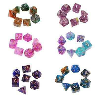 AU4.60 • Buy 7pcs/set Dichromatic MTG Polyhedral Game Dice Six-Color DND RPG Dice K