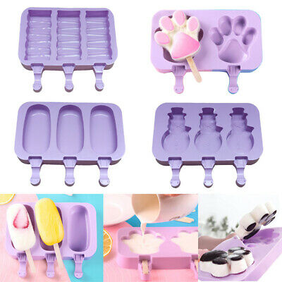 Silicone Frozen Ice Cream Mold Juice Popsicle'Maker Ice Lolly'Pop Mould-2/3 Cell • 5.13£